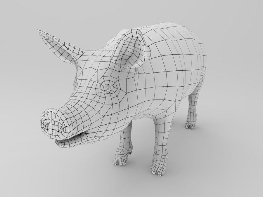 modèle prêt de jeu de basse poly porc royalty-free 3d model - Preview no. 12