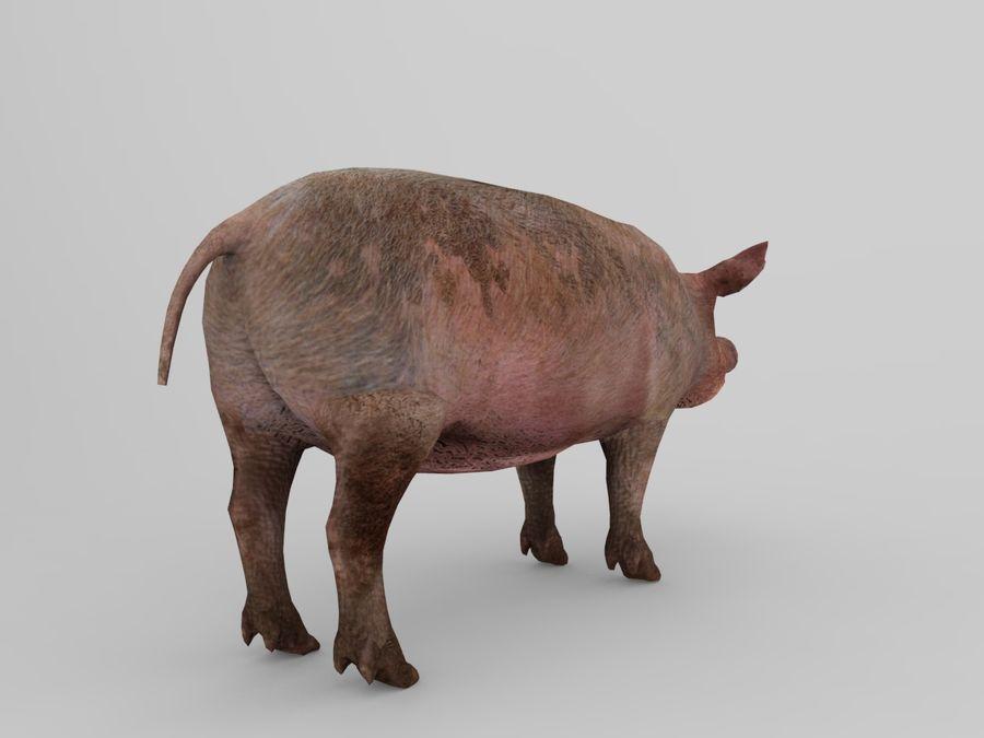 modèle prêt de jeu de basse poly porc royalty-free 3d model - Preview no. 9