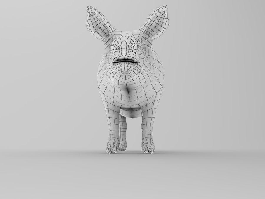modèle prêt de jeu de basse poly porc royalty-free 3d model - Preview no. 16