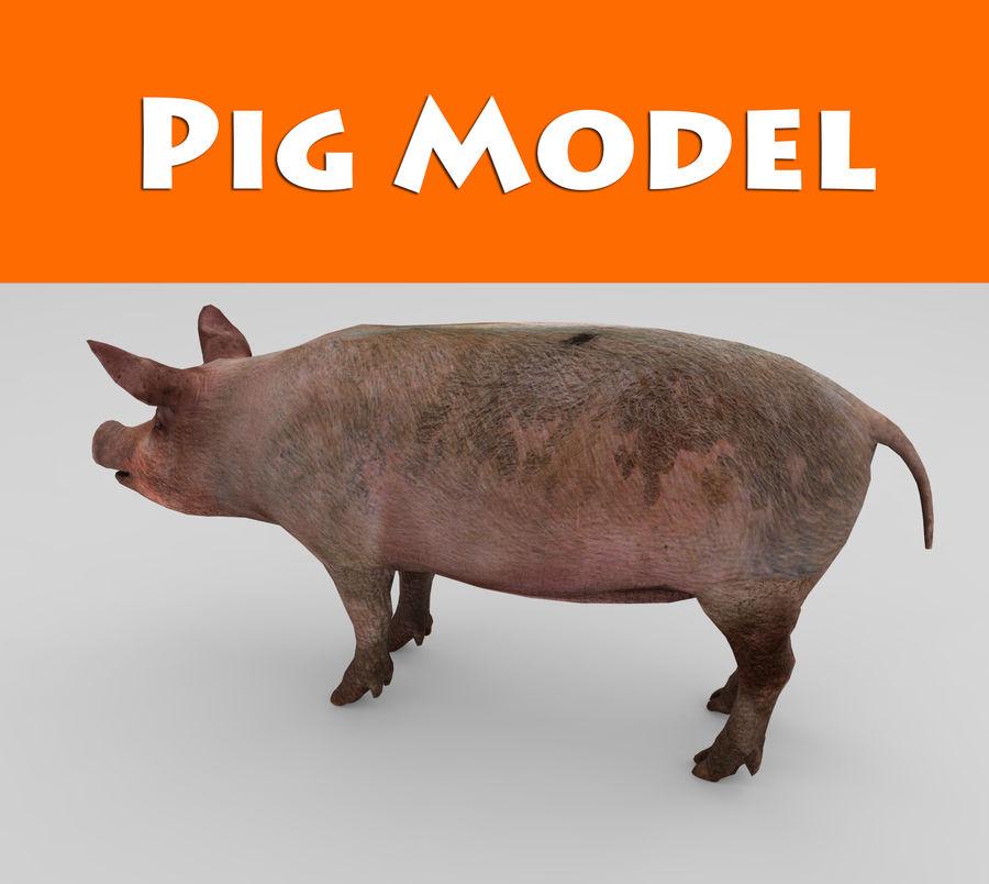 modèle prêt de jeu de basse poly porc royalty-free 3d model - Preview no. 1