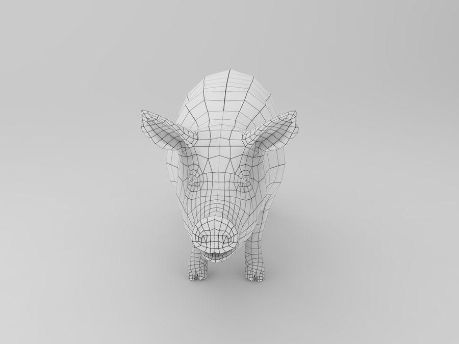 modèle prêt de jeu de basse poly porc royalty-free 3d model - Preview no. 14