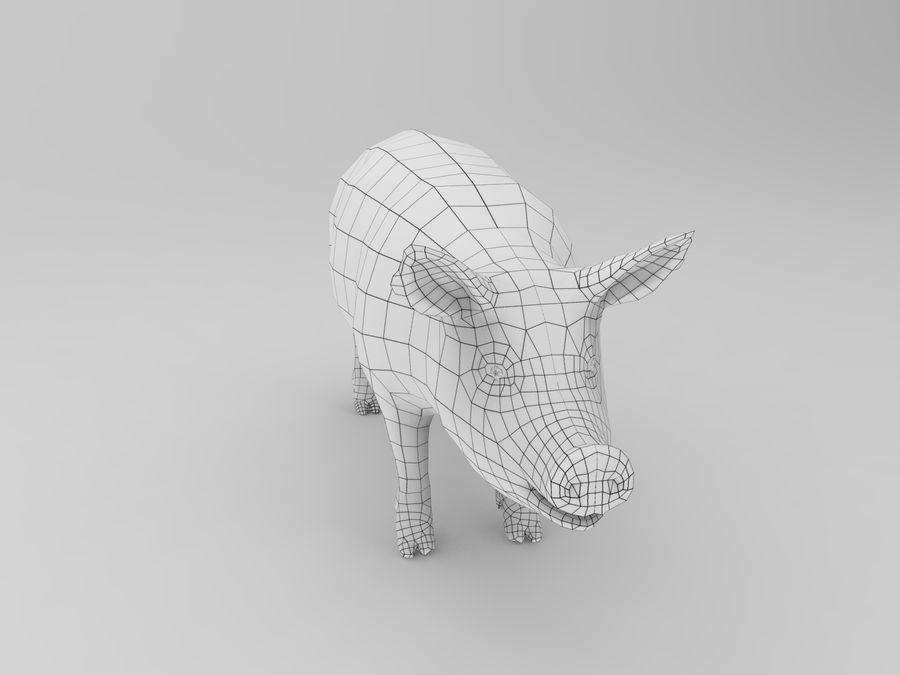 modèle prêt de jeu de basse poly porc royalty-free 3d model - Preview no. 13