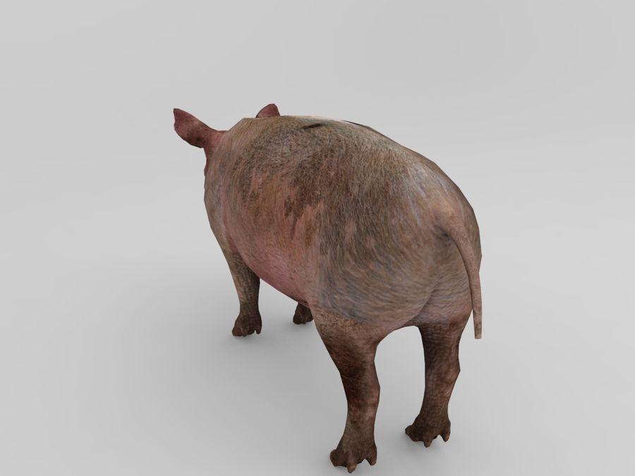 modèle prêt de jeu de basse poly porc royalty-free 3d model - Preview no. 2