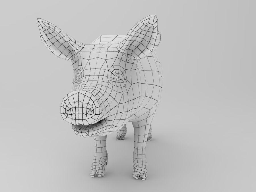 modèle prêt de jeu de basse poly porc royalty-free 3d model - Preview no. 11