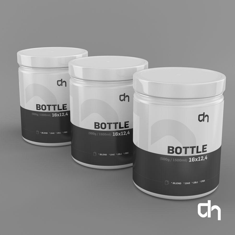 Botella 16x12,4cm (1500ml) royalty-free modelo 3d - Preview no. 3