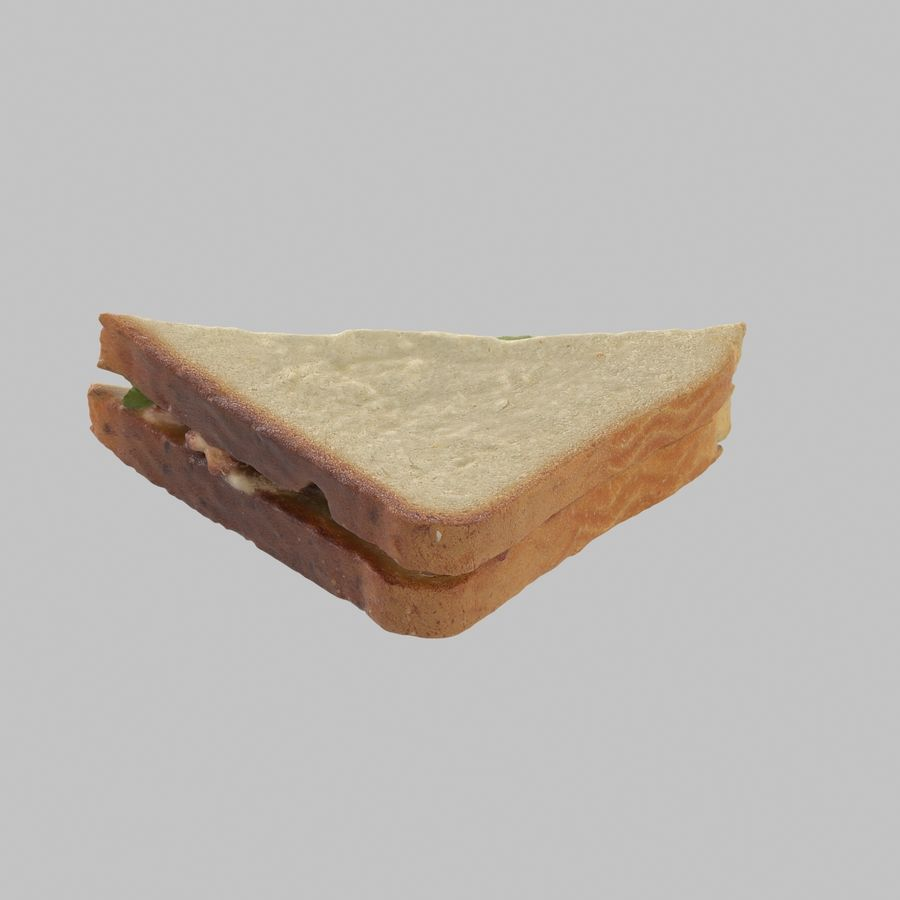 Bacon Sandwich royalty-free 3d model - Preview no. 3