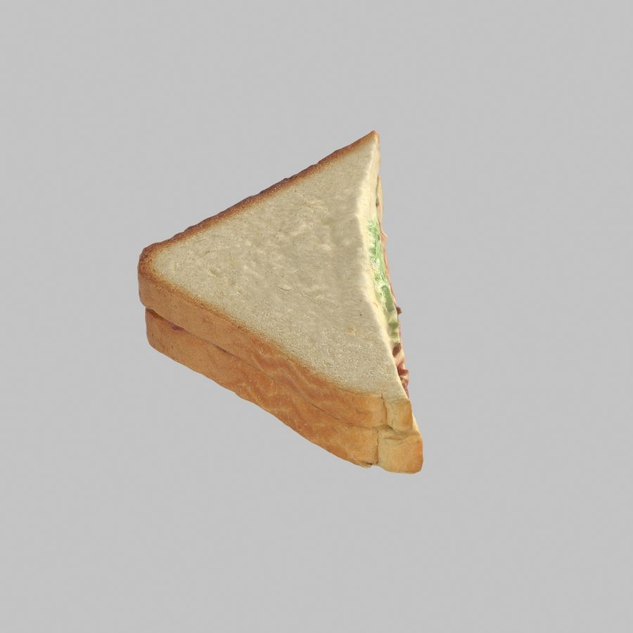 Bacon Sandwich royalty-free 3d model - Preview no. 4