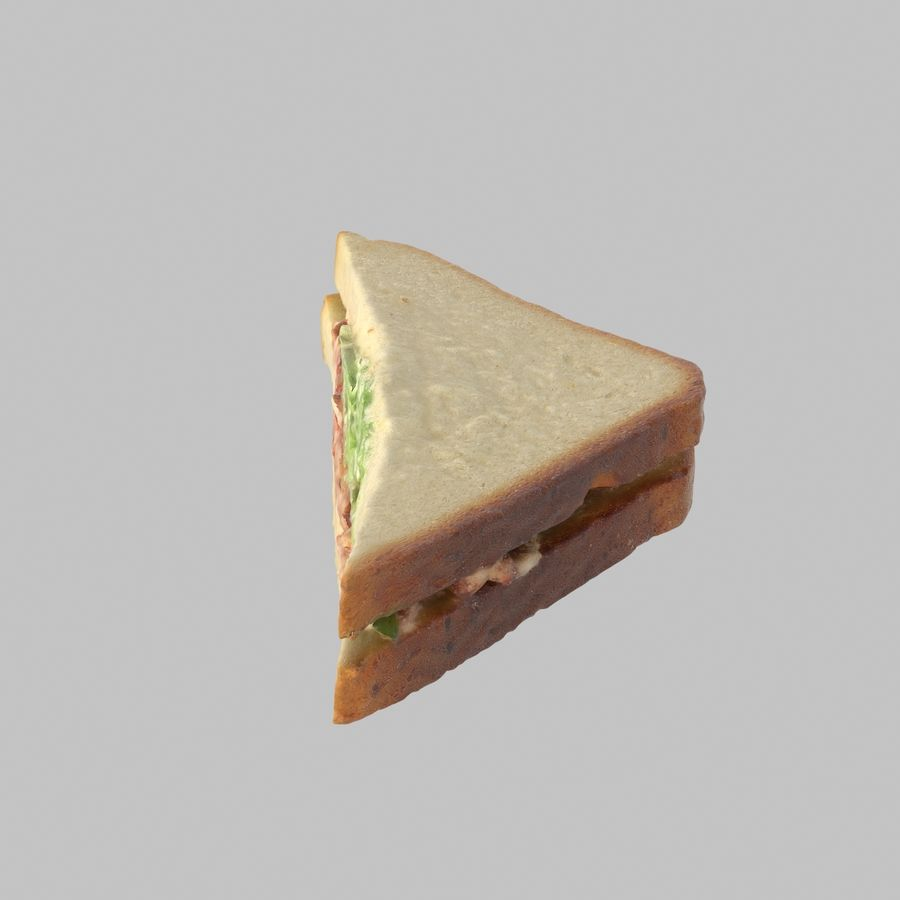 Bacon Sandwich royalty-free 3d model - Preview no. 2