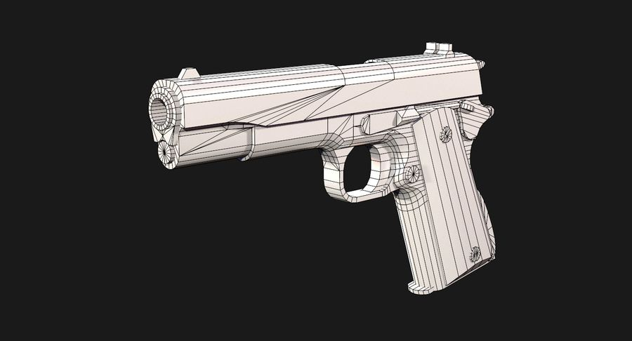 Colt 1911 Pistool royalty-free 3d model - Preview no. 16