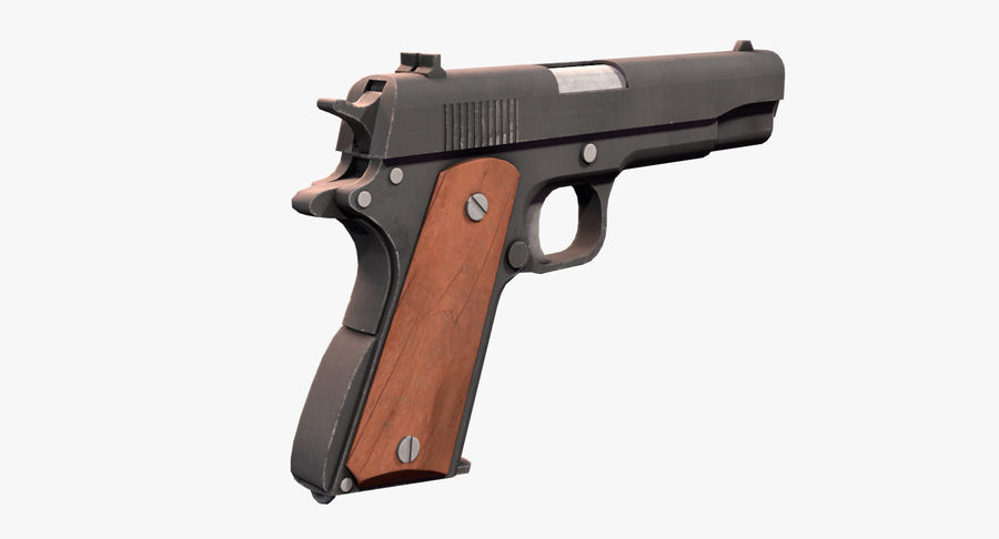 Colt 1911 Pistool royalty-free 3d model - Preview no. 3
