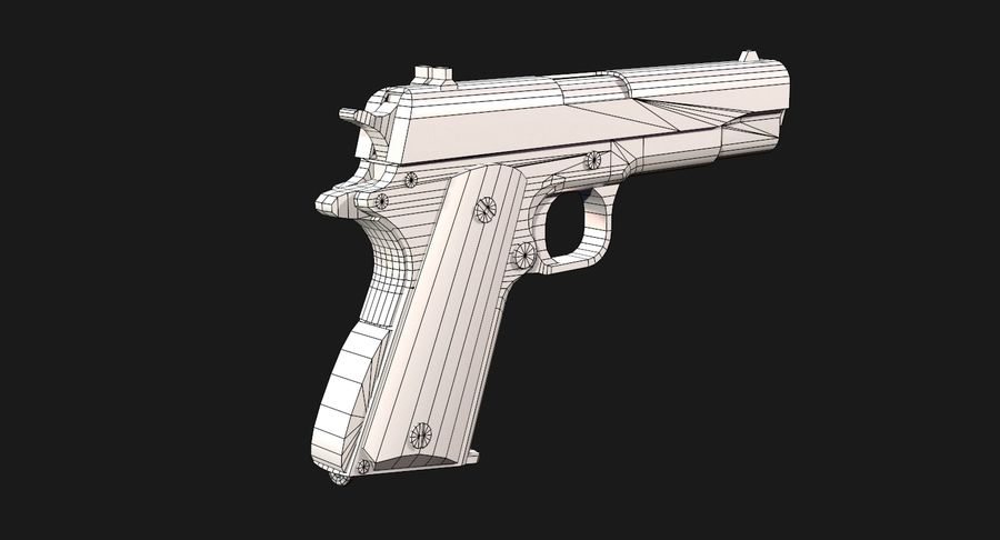 Colt 1911 Pistool royalty-free 3d model - Preview no. 17