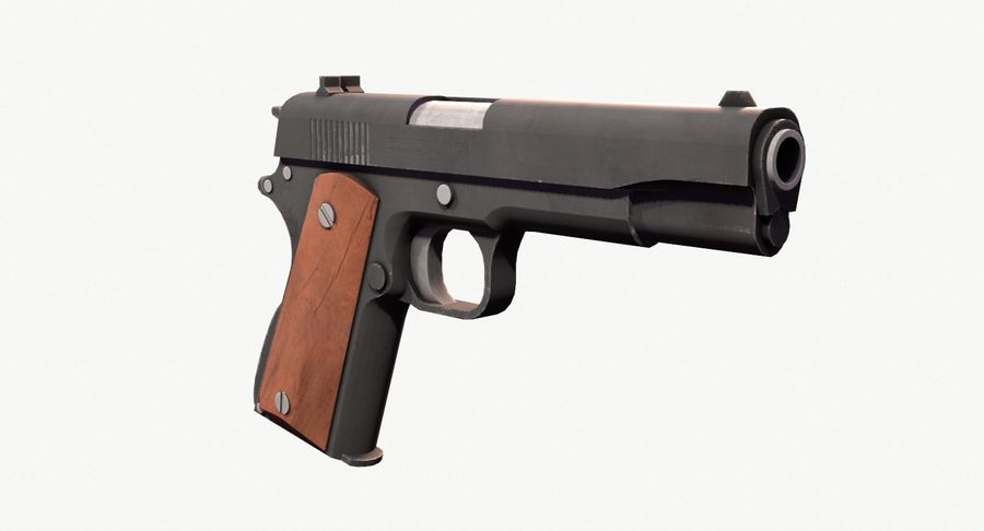 Colt 1911 Pistool royalty-free 3d model - Preview no. 4