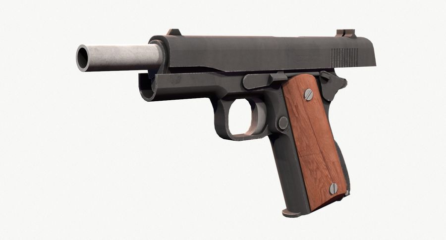 Colt 1911 Pistool royalty-free 3d model - Preview no. 10