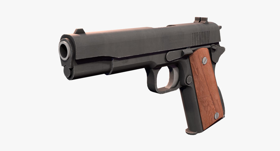 Colt 1911 Pistool royalty-free 3d model - Preview no. 2