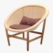 Kettal Basket Wicker Chair 3d model
