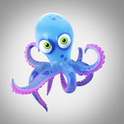Cartoon octopus 3d model