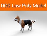 hondengame klaar laag polymodel 3d model