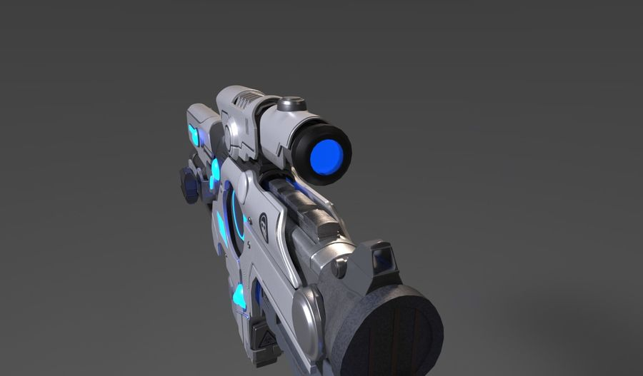 Sci-Fi Weapon royalty-free 3d model - Preview no. 6