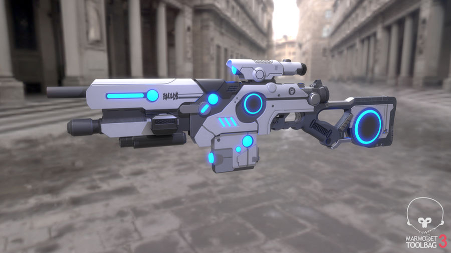 Sci-Fi Weapon royalty-free 3d model - Preview no. 1