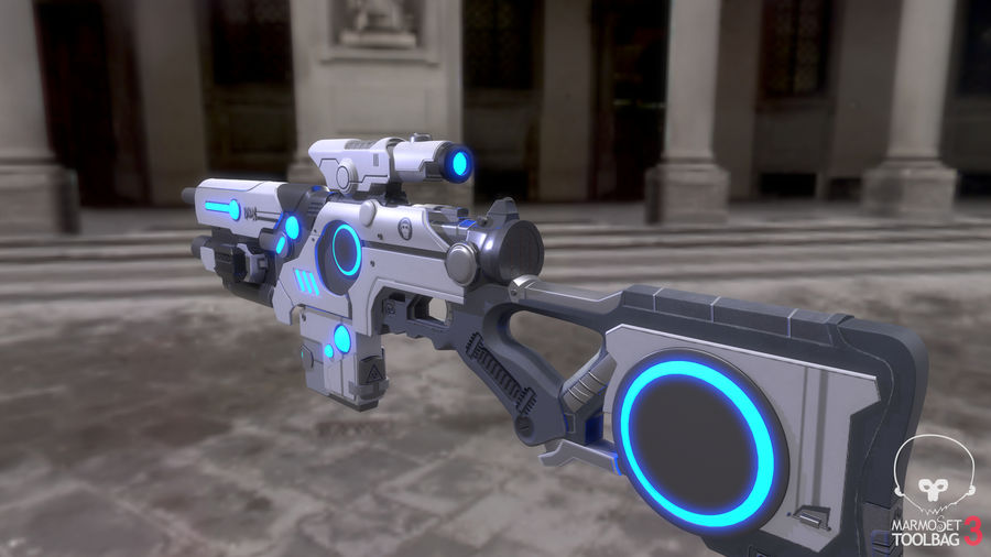 Sci-Fi Weapon royalty-free 3d model - Preview no. 10
