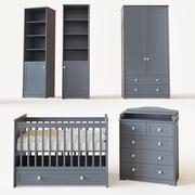 Conjunto de muebles para niños. modelo 3d