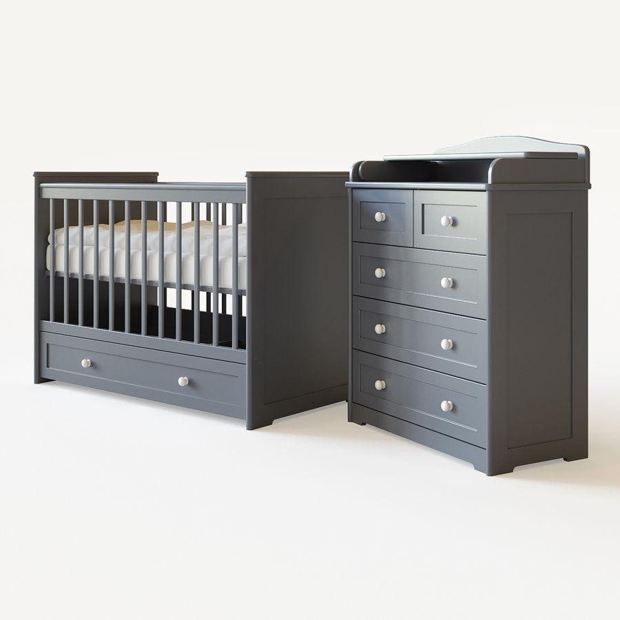 Conjunto de muebles para niños. royalty-free modelo 3d - Preview no. 3