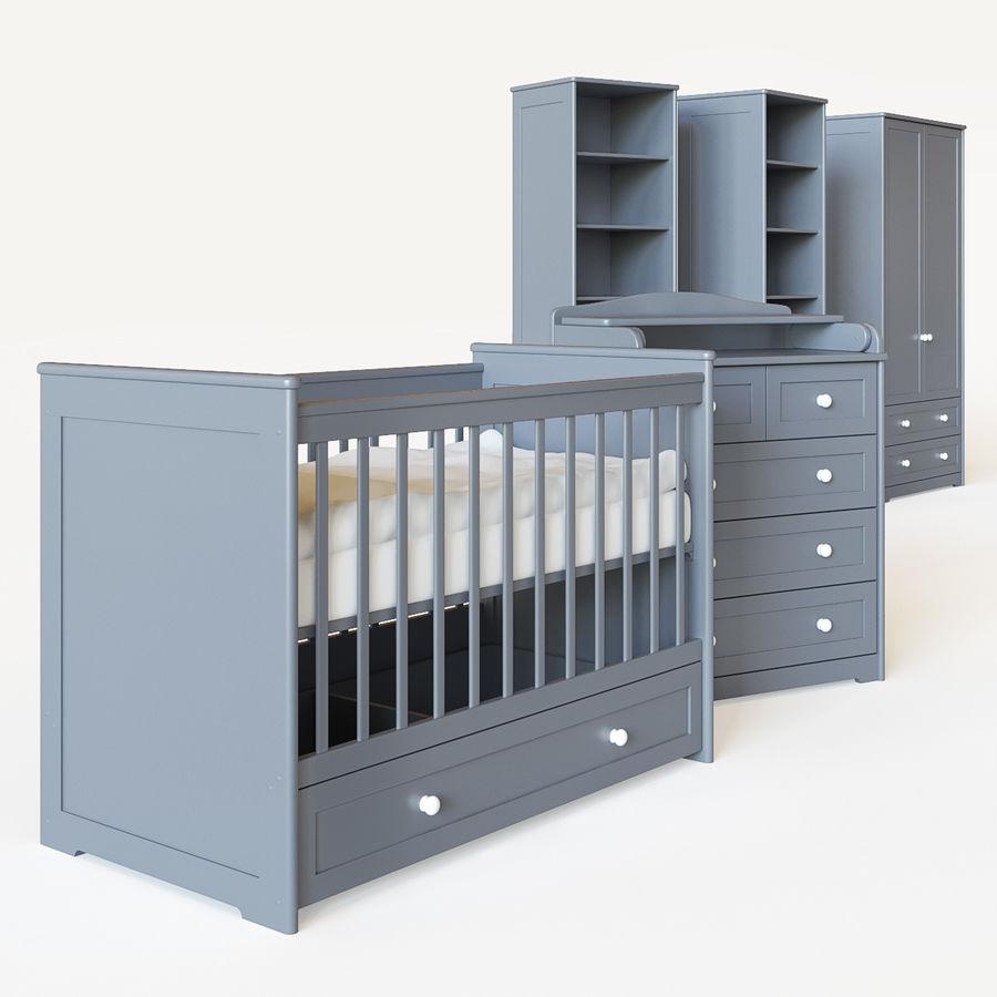 Conjunto de muebles para niños. royalty-free modelo 3d - Preview no. 2