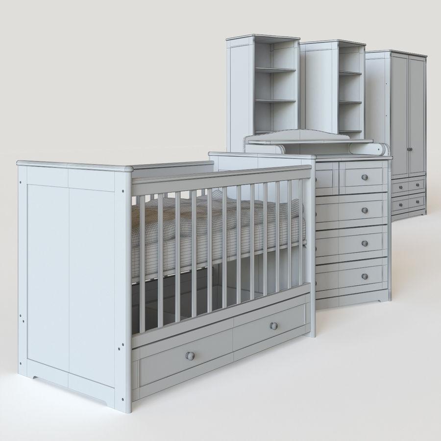 Conjunto de muebles para niños. royalty-free modelo 3d - Preview no. 5