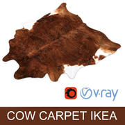 IKEA carpet Cow hide KOLDBY2 Brown rug 3d model