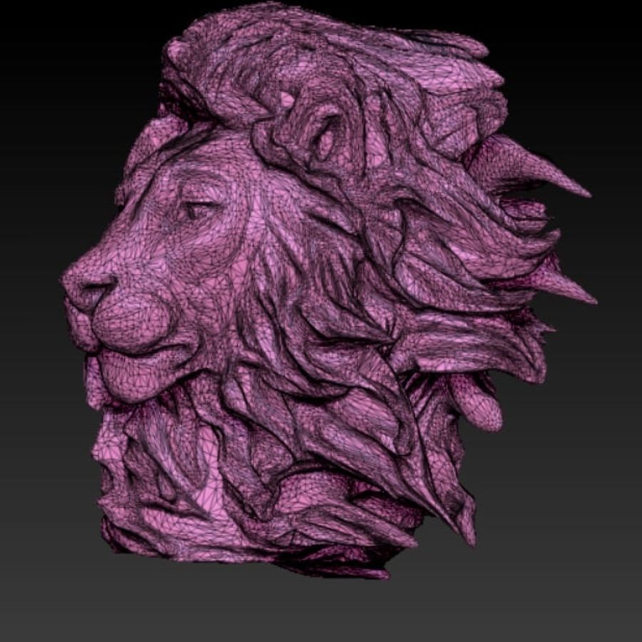 lion royalty-free 3d model - Preview no. 3