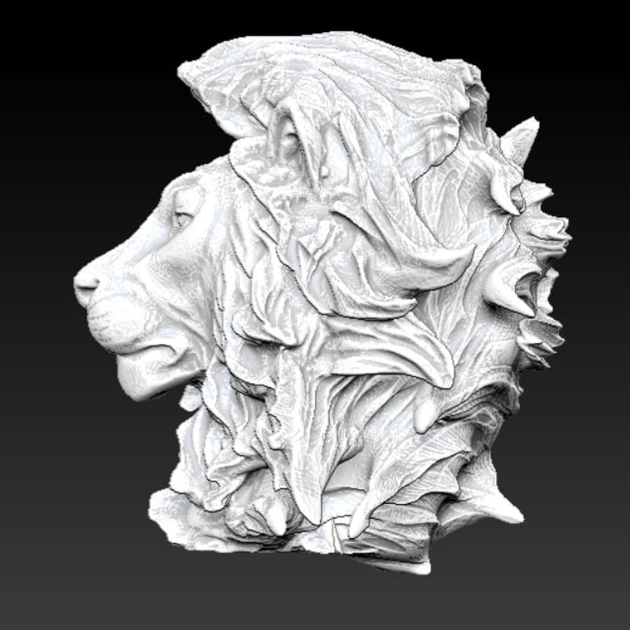 lion royalty-free 3d model - Preview no. 4