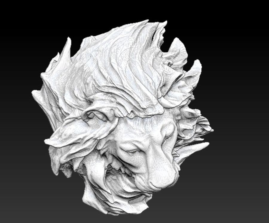 lion royalty-free 3d model - Preview no. 5