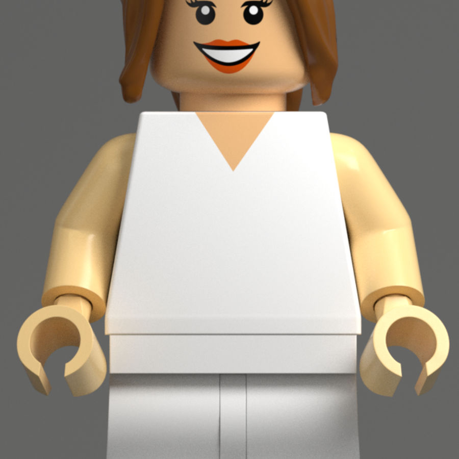 Trump Lego royalty-free 3d model - Preview no. 4