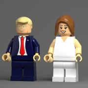 Trump Lego 3d model