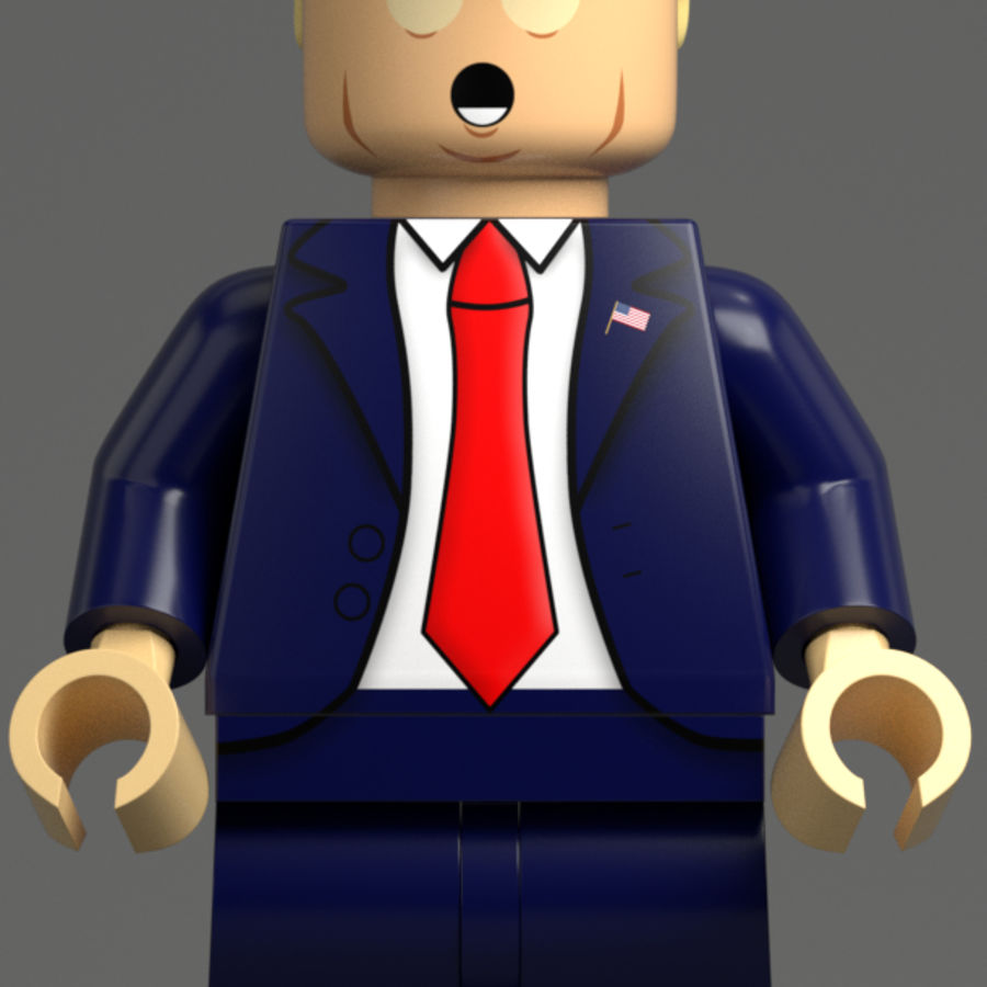 Trump Lego royalty-free 3d model - Preview no. 2