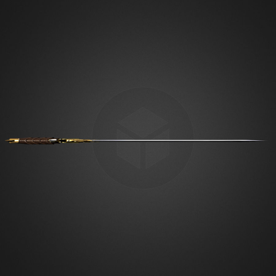 Fantasy Sword [Game ready] royalty-free 3d model - Preview no. 3