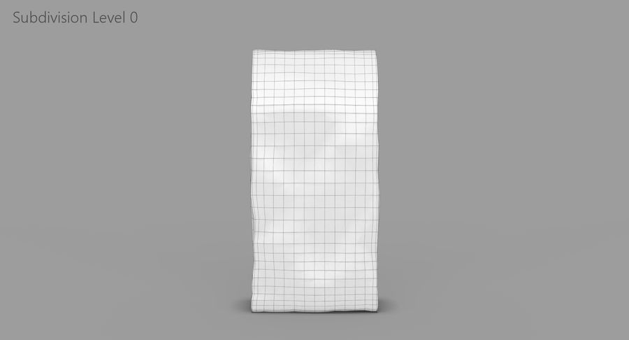 Paper Bag v2 royalty-free 3d model - Preview no. 9