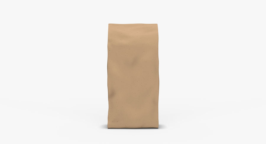 Paper Bag v2 royalty-free 3d model - Preview no. 4