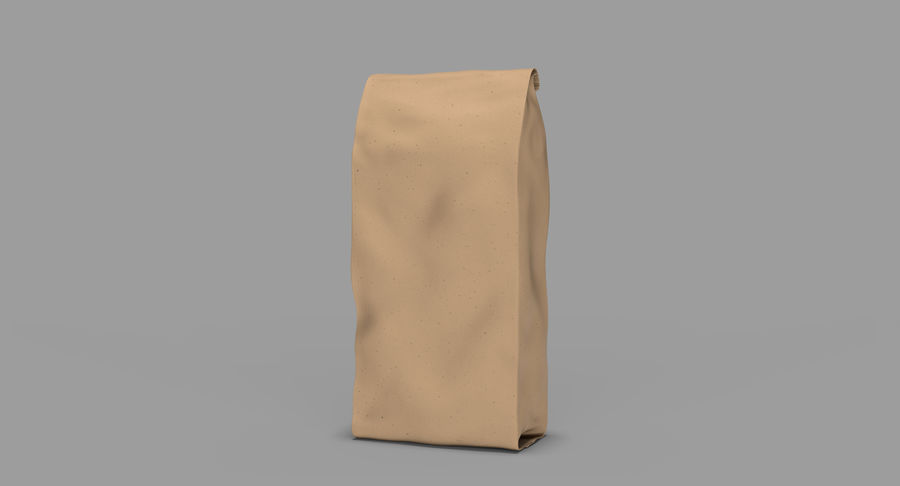Paper Bag v2 royalty-free 3d model - Preview no. 3