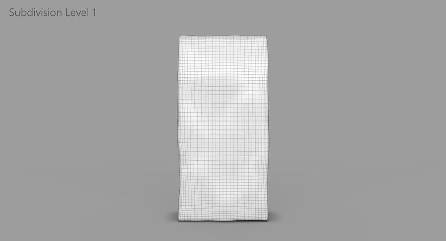 Paper Bag v2 royalty-free 3d model - Preview no. 10