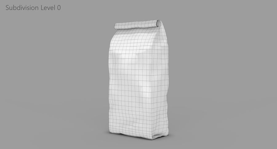 Paper Bag v2 royalty-free 3d model - Preview no. 11