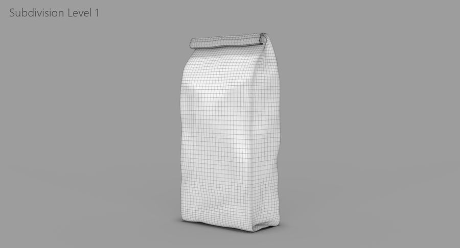 Paper Bag v2 royalty-free 3d model - Preview no. 12
