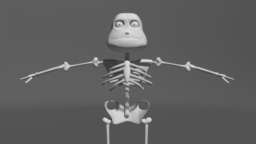 Bones royalty-free 3d model - Preview no. 17