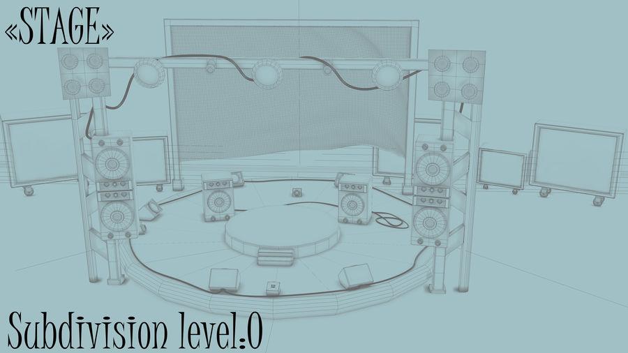 레고 락 밴드 (메인 스테이지) royalty-free 3d model - Preview no. 18