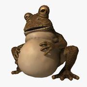 太いカエルの装備 3d model