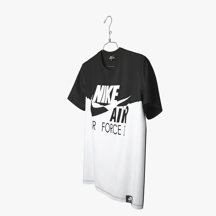 T Shirt Nike Air Force 1 royalty-free 3d model - Preview no. 8