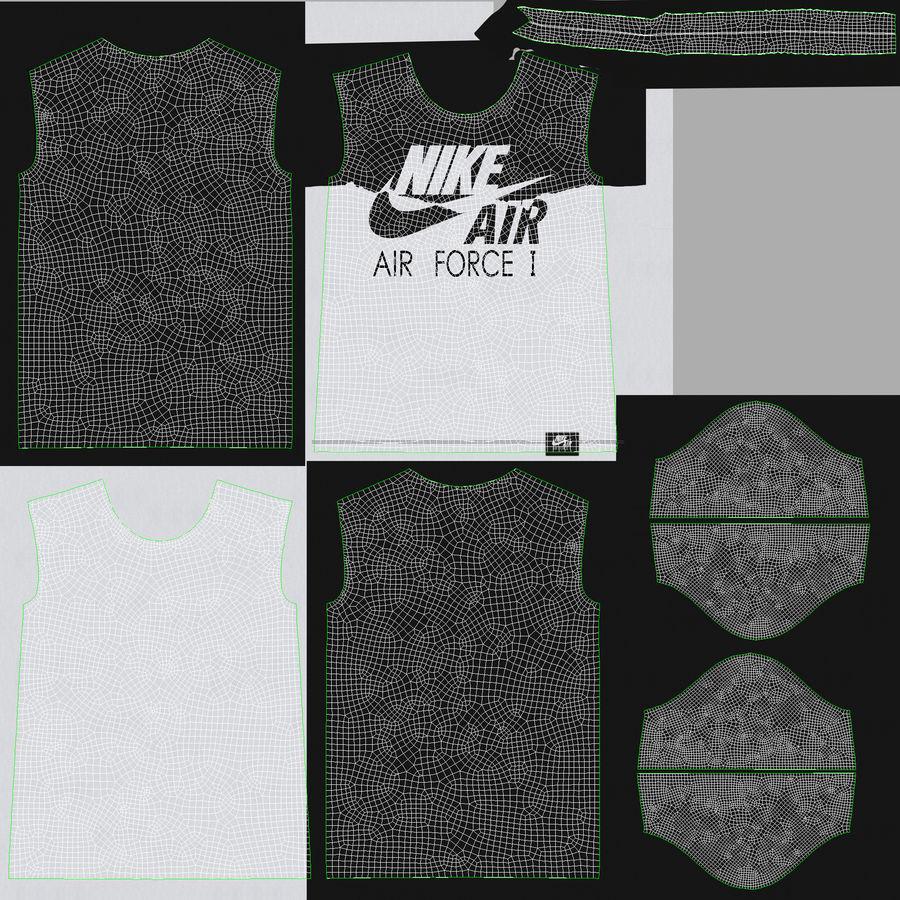adjetivo vértice Fuerza motriz  T Shirt Nike Air Force 1 3D Model $29 - .unknown .obj .fbx .max - Free3D