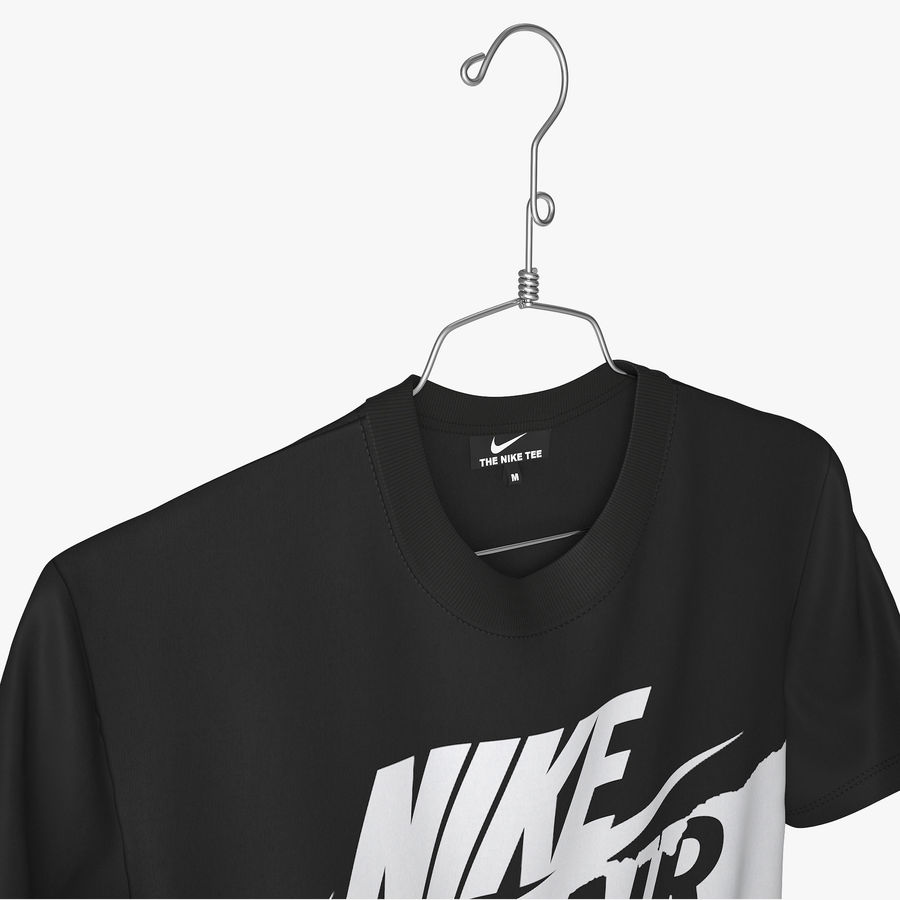 T Shirt Nike Air Force 1 royalty-free 3d model - Preview no. 2