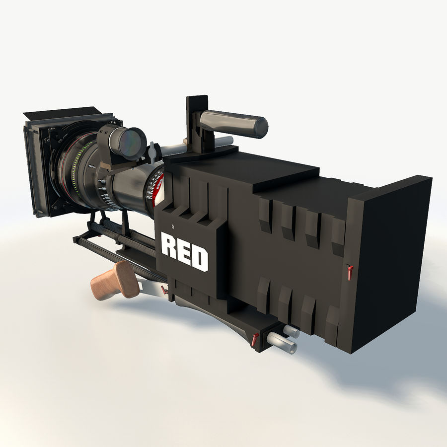 Camera RED epic low poly royalty-free 3d model - Preview no. 4