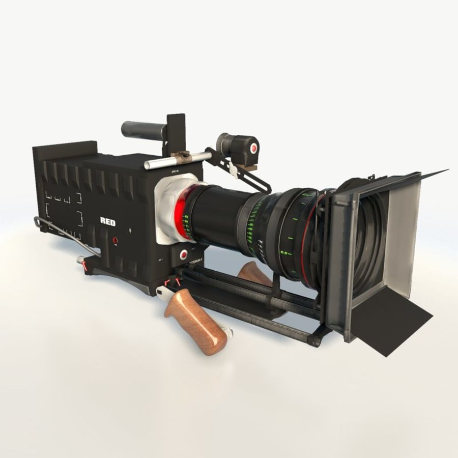 Camera RED epic low poly royalty-free 3d model - Preview no. 6